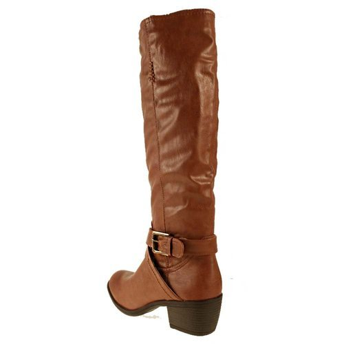 Femme Bottes Manfield/Dolcis Marron Noir Taupe Bordeaux brun clair Manfield Riding Boot Tan