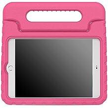 MoKo Funda para iPad Mini 4 - Material EVA Lightweight Kids Shock Proof Protector Cover Case con Manija Para Apple iPad Mini 4 7.9 Pulgadas 2015 Tableta, FUCSIA (No va a caber el mini 3)
