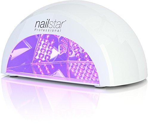 NailStar® Professioneller LED-Nageltrockner mit UV Nagellampe für Shellac und Gelnagellack Lichthärtegerät mit Timer, Tragbares Härtungsgerät für Maniküre, Aushärtungslampe für Fingernägel – weiß - 2