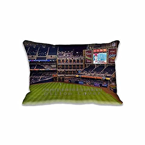 Bed Bug proof Petco Park Baseball Stadium Pillow Protector Zippered Festival Decorations 16X24inch Pillow Cases(Twin Sides)