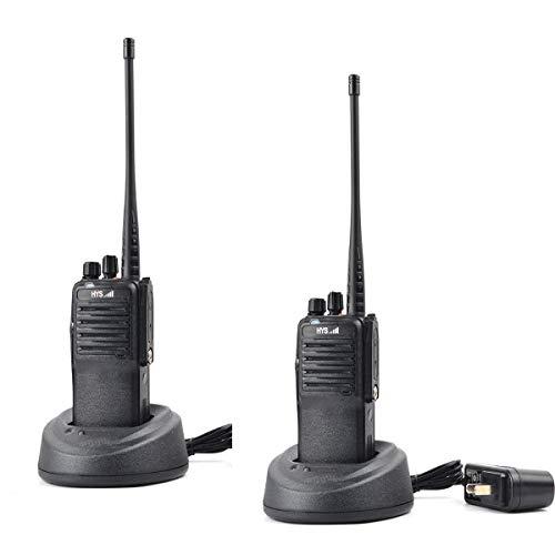 HYS Walkie Talkies 10W Amateurfunk Long Range UHF 400-480Mhz Funkgeräte mit 2600Mah wiederaufladbarer Li-Ion-Batterie (2er Pack) -