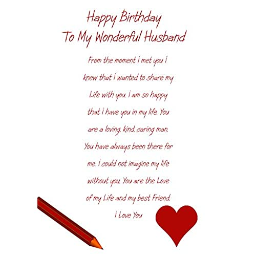 Birthday cards for husband amazon bookmarktalkfo Gallery