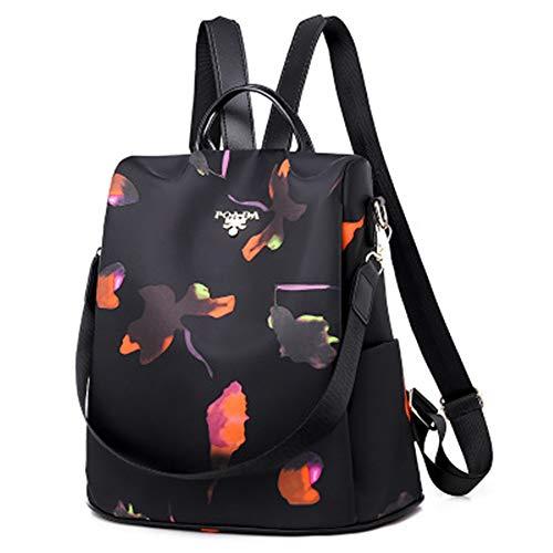 Fashion Anti-Diebstahl-Damen Rucksack Marke Damen große Kapazität Damen Rucksack schwarz Muster 32 * 13 * 32cm (Maus-tasche Erwachsene Minnie Für)