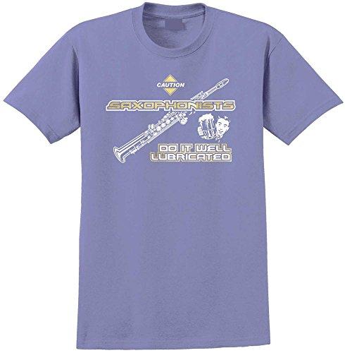 MusicaliTee Saxophone Sax Soprano Well Lubricated - Violett T Shirt Größe 92cm 39in Medium