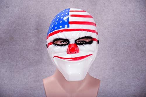 JYYC Minch Clown Masken für Maskerade Party Scary Clowns Maske Zahltag 2 Halloween Horrible Mask-GQ