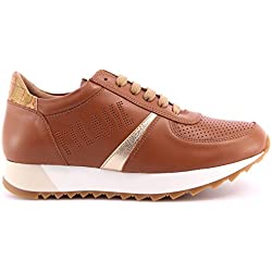 Scarpe Donna Sneakers ALVIERO MARTINI 1°Classe Leather Brown Pelle Marrone ITA