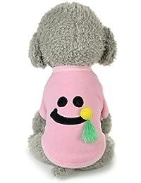 Tongshi Nuevo invierno caliente perro mascotas ropa linda sonrisa patrón traje