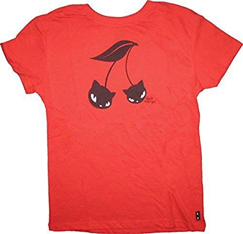 Emily the Strange Junior women's Cherry Cats Shirt rot - Small (Junior)