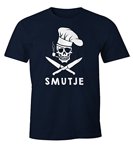Herren T-Shirt Koch Smutje Pirat Fun-Shirt Moonworks® Smutje navy