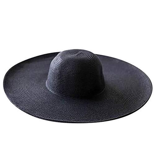 Sombreros de Paja de Color Liso con ala Ancha 801870e4da0