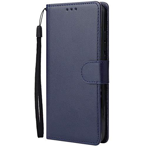 Dclbo Hülle für Samsung Galaxy A70S (Nicht für A70), Handytasche Case Handyhülle Flip PU Leder Hülle Cover Schutzhülle Magnet Klapphülle Schale mit Kartenfächer Standfunktion für Galaxy A70S-Blau