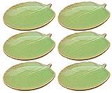 Blatteller/Teller Set 6-teilig in grün, Grösse S