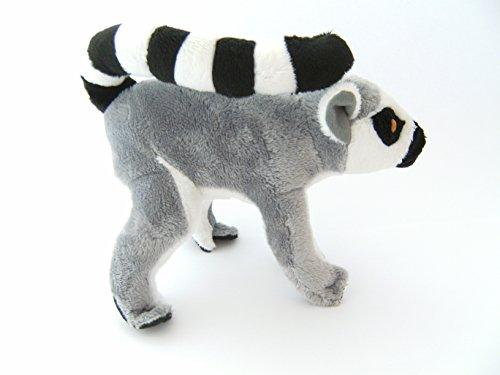 (Stofftier Katta 33 cm mit Schwanz Kuscheltier, Plüschtier, Lemur)