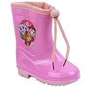 """Tema: """"pup potenza """"splendida coppia di avvio di pioggia per vostra figlia di colore rosa o fucsia e la licenza di pattuglia della zampa."""