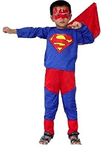 HarrowandSmith British Fashion Shop Jungen Superman-Kostüm Superheld Cosplay Abendkleid -themed party halloween (Junge Kostüm Superman)