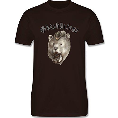 Oktoberfest Herren - Oktobärfest - Herren Premium T-Shirt Braun