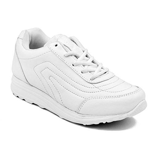 Asian Shoes Boy's TECHNO White School Range