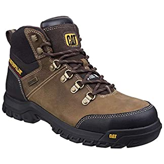 caterpillar mens leather s3 boots safety work ankle black waterproof steel toe shoe - 41j7At4frTL - Caterpillar Mens Leather S3 Boots Safety Work Ankle Black Waterproof Steel Toe Shoe