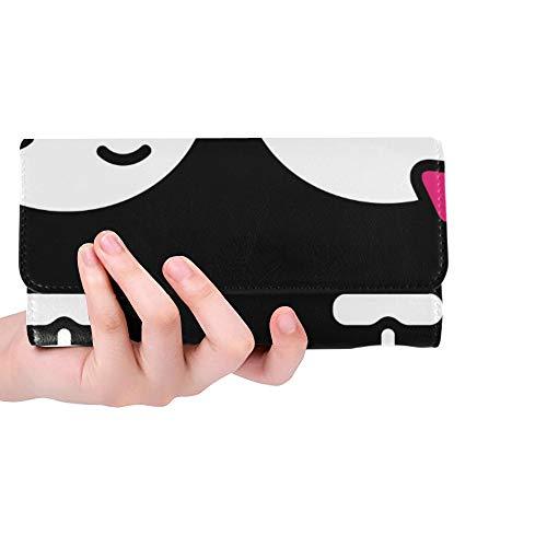 awaii Skeleton Liebes-Paar-Jungen-Frauen-dreifachgefaltete Mappen-Lange Geldbeutel-Kreditkarte-Halter-Fall-Handtasche ()