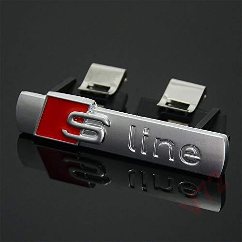 Logo S-Line RS grille pare-chocs blason satiné Badge pour Audi avant emblème styling pour A1 A3 A4 A5 Q5