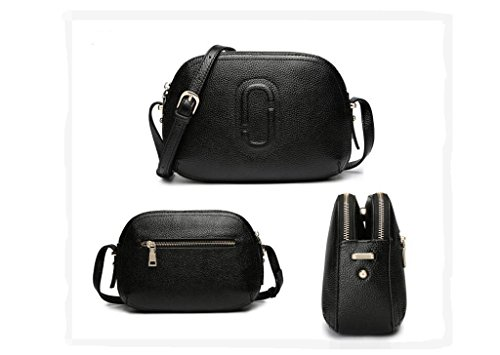 borse Piccola pelletteria, borse, sacchetto del messaggero, primo strato di spalla di cuoio del messaggero sacchetti delle signore pacchetto di moda black