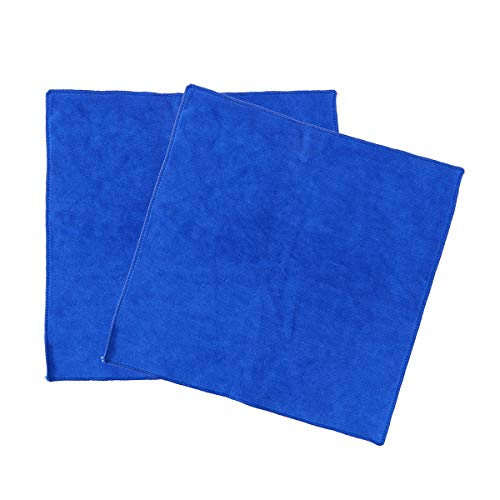 Preisvergleich Produktbild VORCOOL 2 stücke Trockenen Handtücher Reinigung Towela Waschlappen Auto Waschen Stoff Wachs Polieren Nano Mikrofaser Autowaschtuch - 40x40 cm (Blau)