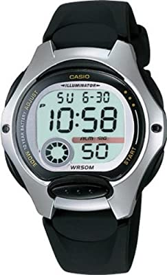 CASIO Collection LW-200-1AVEF de cuarzo, correa de textil color negro (con cronómetro, alarma, luz)