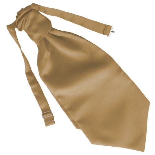 Herren Satin Ruche Krawatte - Verschiedene Farben (Gold) (Gold Tuxedo)