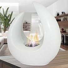 Bio camino bioetanolo design moderno ceramica bianco interno esterno NEW-DELHI
