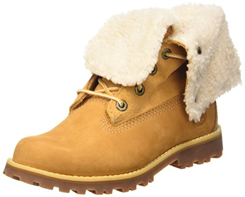 Timberland Unisex-Kinder 6 In Premium Waterproof Shearling Lined Klassische Stiefel, Gelb (Wheat Nubuck), 38 EU - 6 Größe Jungen Timberland Boots
