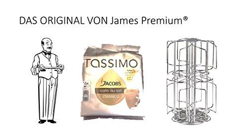 Tassimo Kapselhalter für 64 Kapseln Größter Kapselhalter auf dem Markt geschütztes Design + Jacobs Café Au Lait