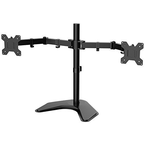 """1home - Doble Brazo Soporte de Escritorio para Pantalla Plana LCD LED Monitor Ordenador 13""""-27"""" Protector de TV"""