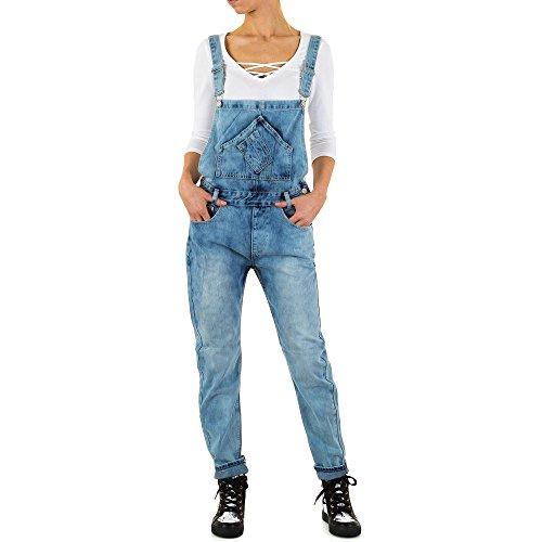 Damen Jeans Used Look Latz Skinny Blau S