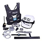 Yvsoo 11Pcs Juguete Policiales Disfraz Policía Juguete Playset con...