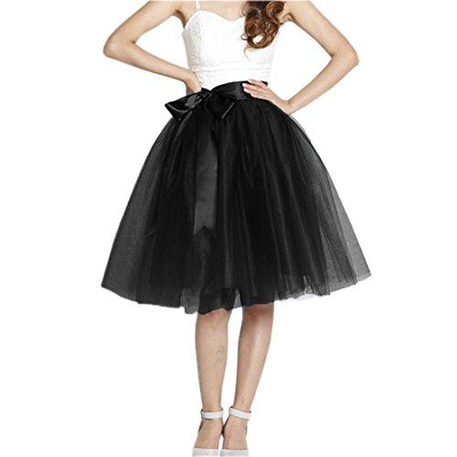 Honeystore Damen's Rock Tutu Polyester Damenrock Tütü Cosplay Kurz Tanzkleid Party Minirock Pettiskirt Tüllrock Unterrock Sommer Falten Rock XL (Kleid Cinderella Für Teens)