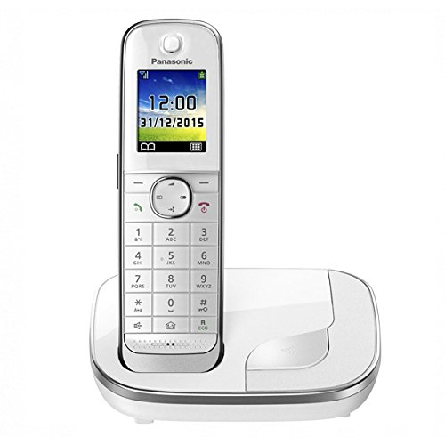 Panasonic KX-TGJ310SPW - Teléfono Fijo Digital (inalámbrico), Color