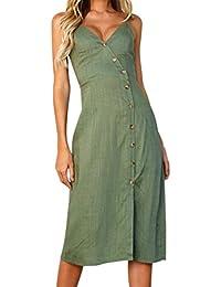 Amazon.it  Vestito in lino - S   Donna  Abbigliamento a42c1260c00