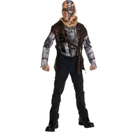 Das Kostüm Terminator - Rubies Terminator T-600 Kinderkostüm - S-116 cm