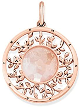 THOMAS SABO Damen Anhänger Rosa Tree of Love 925er Sterlingsilber; 750er Roségold Vergoldung Rosenquarz PE758-...