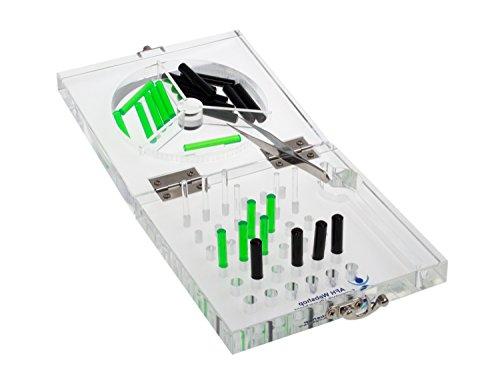 Feinmotorik Übungsboard aus Acryl | 16 x 16 cm | Steckbrett | Stecktafel | Therapie Ergotherapie