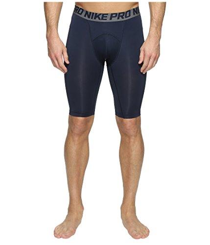 Nike Herren-Shorts, kühlend, mit Kompressionswirkung, 23 cm lang Größe L Obsidian Blue/Dark Grey/White -
