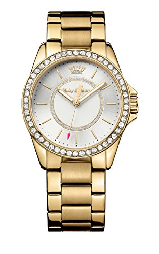 Juicy Couture Laguna-Orologio da donna al quarzo con Display analogico e cinturino in oro rosa 1901409, colore: oro
