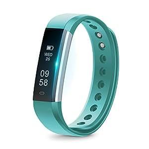 runme Fitness Armband mit Schrittzähler - Fitness Tracker mit Schlafüberwachung Bluetooth IP67 Wasserdichte Fitness Watch, Smart Watch für Android und iOS Smartphones
