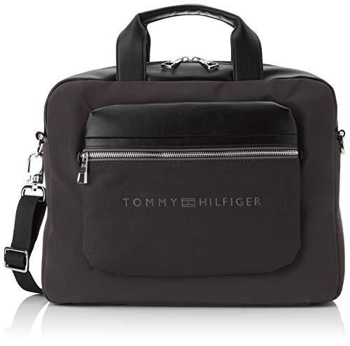 Tommy Hilfiger Herren Urban Novelty Computer Bag Laptop Tasche Schwarz (Black) 9x31x39 cm -
