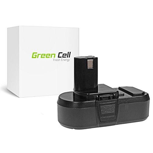 Green Cell® P105 Werkzeug Akku für Ryobi ( Panasonic/Sanyo Li-Ion Zellen 2.5 Ah 18V ) (P105 Ryobi)