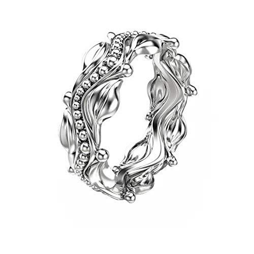 Blume Ring plattiert Platin Ringe Frauen Trauringe Hochzeit Ringe Geburtstagsgeschenke Weißes Gold YunYoud Sterling fußring verlobung fingerring Coole schmuckringe diamantring (Platin-blau Saphir-ring)