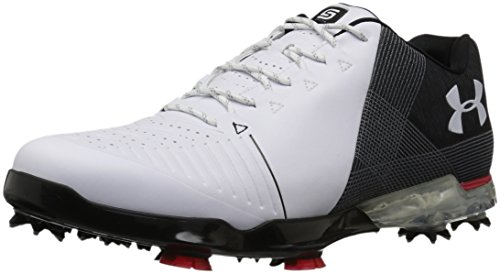 Under Armour 2018 UA Spieth 2 Waterproof Mens Spikes Golf Shoes - Wide Fit White/Black 8.5UK
