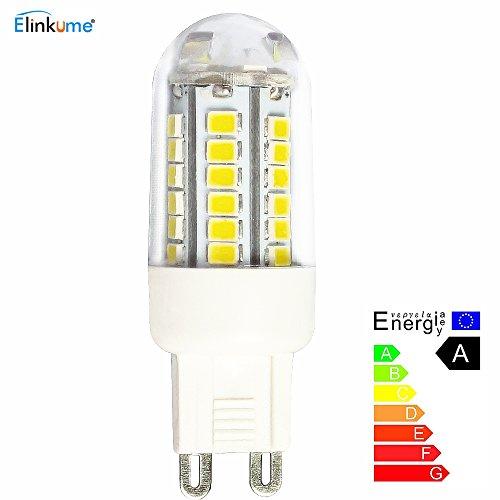 ELINKUME G9 LED Birne Super Bright 4W 400lm 42 * SMD 2835 LED Lampe AC 220V längere Lebensdauer als Halogenlampe (warmes weißes 3000 k) 1 in Packung (Strahlung Der Frequenz Meter)