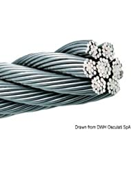 Cavo inox 133 fili 7 mm English: Wire rope AISI 316 133-wire 7 mm