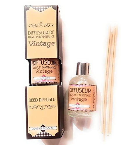 Diffuseur de parfum d'ambiance vintage - FLEUR DE COTON -